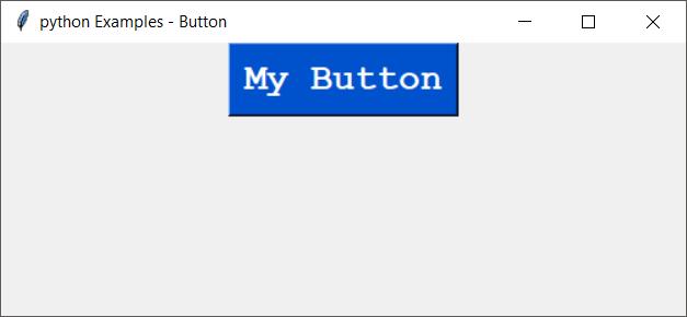 Python tkinter Button font family