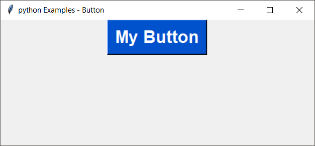Python tkinter button with custom font properties