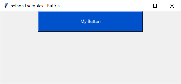 Python Button Example