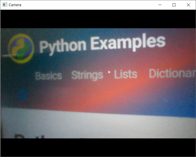 Python OpenCV CV2 – Capture Video from Camera