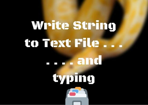 Python - Write String to Text File
