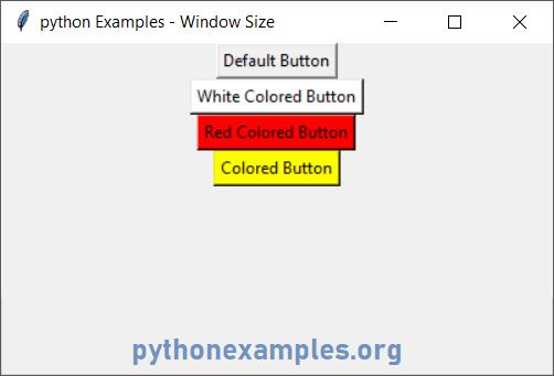 Python Tkinter Button Color