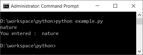 Python input() function - without prompt