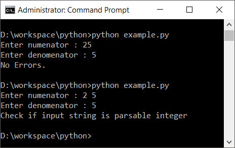 Python Try Except with Else Block
